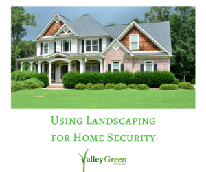 using landscaping for home security