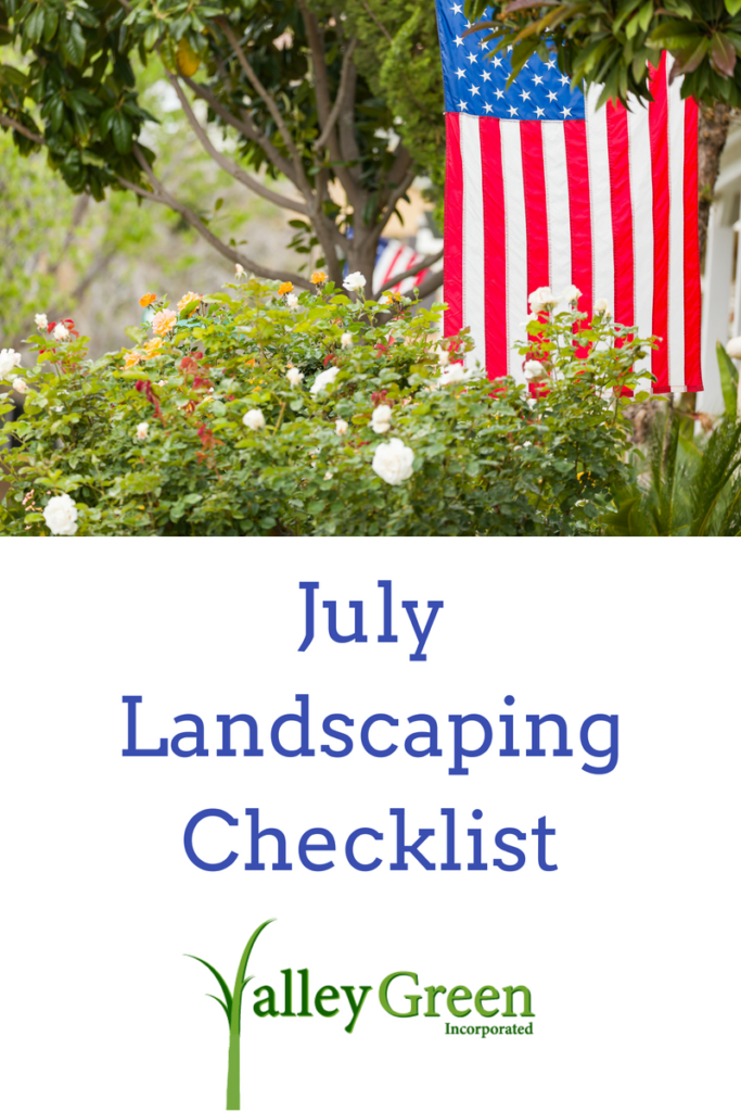 july landscaping checklist
