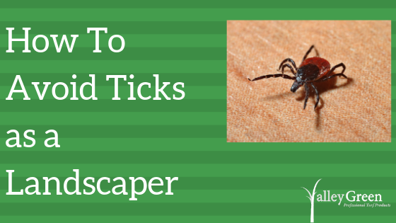 how to avoid ticks as a landscaper