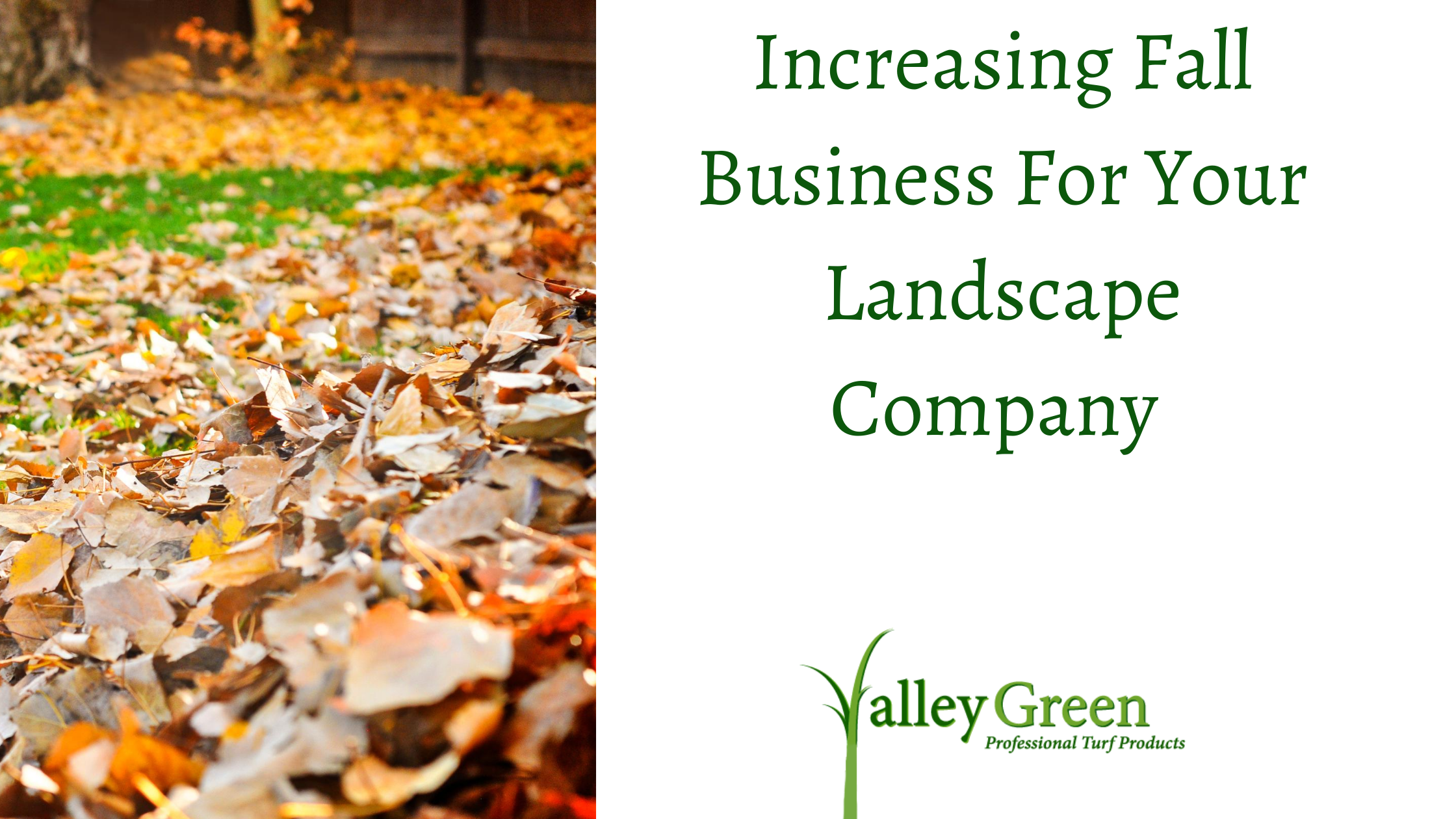 Increasing Fall Business For Your Landscape Company